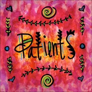 Patients Button Illustration