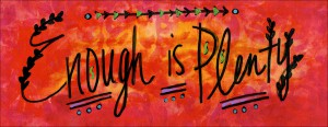 Enough is Plenty Healing Mantra Illustration